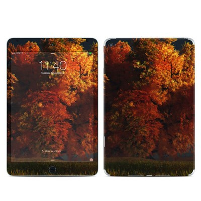 Apple iPad Mini 4 Skin - Red and Gold
