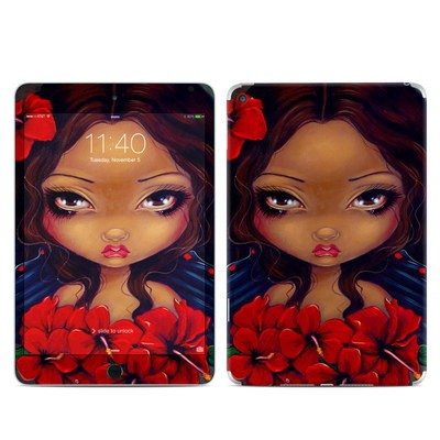 Apple iPad Mini 4 Skin - Red Hibiscus Fairy