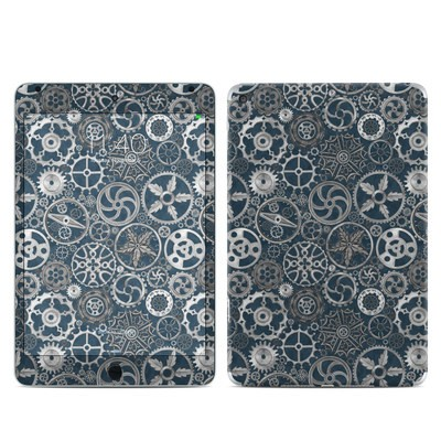 Apple iPad Mini 4 Skin - Silver Gears