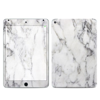 Apple iPad Mini 4 Skin - White Marble