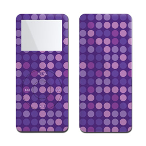 iPod nano Skin - Purple Dots