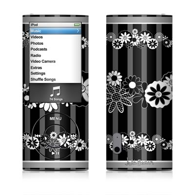 iPod nano (5G) Skin - Black Retro