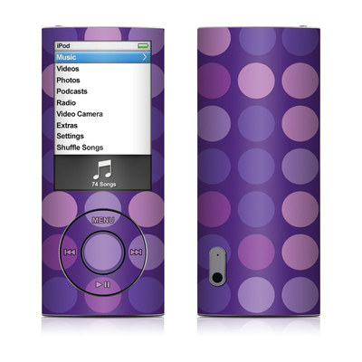 iPod nano (5G) Skin - Big Dots Purple
