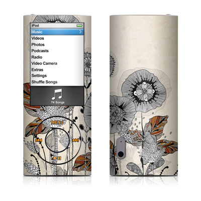 iPod nano (5G) Skin - Four Flowers