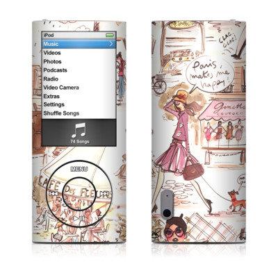 iPod nano (5G) Skin - Paris Makes Me Happy