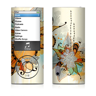 iPod nano (5G) Skin - Sunset Flowers