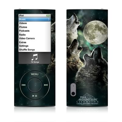 iPod nano (5G) Skin - Three Wolf Moon