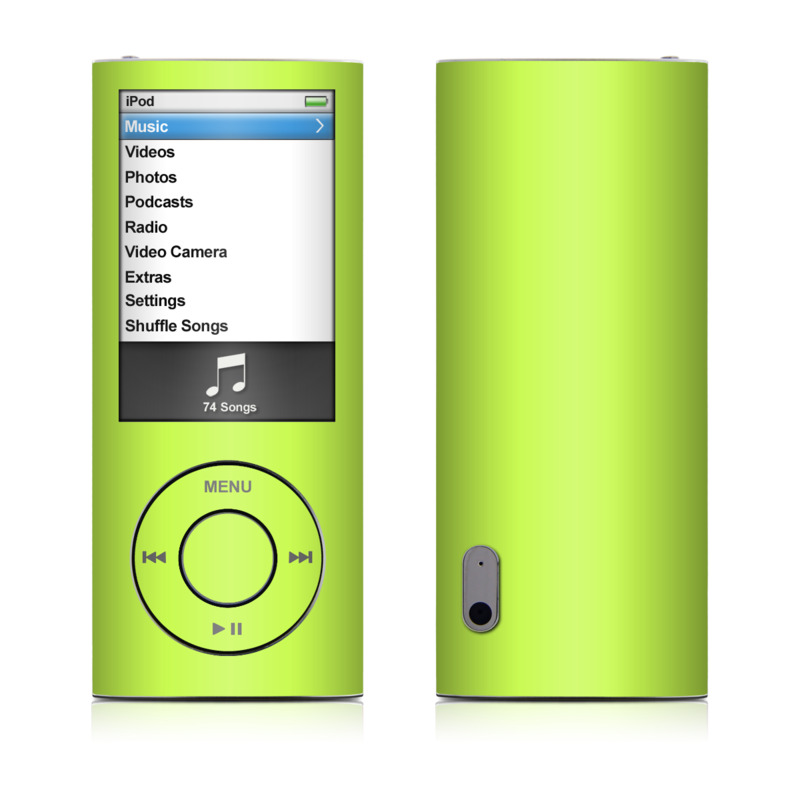 ipod nano 5g skin solid state lime by solid colors. Black Bedroom Furniture Sets. Home Design Ideas