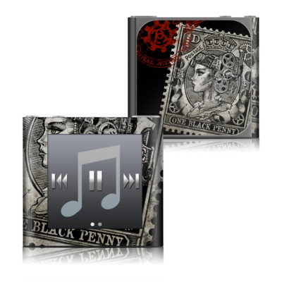 Apple iPod nano (6G) Skin - Black Penny