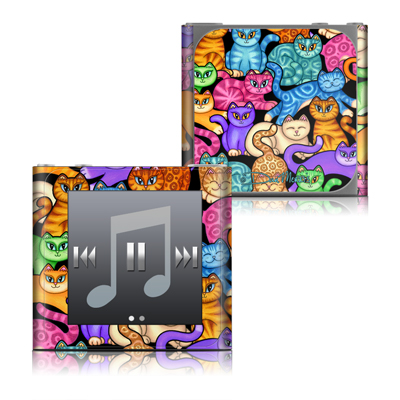 Apple iPod nano (6G) Skin - Colorful Kittens