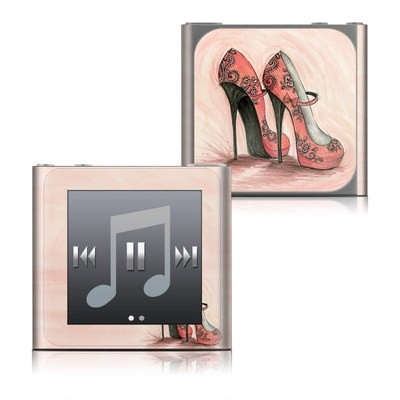 Apple iPod nano (6G) Skin - Coral Shoes