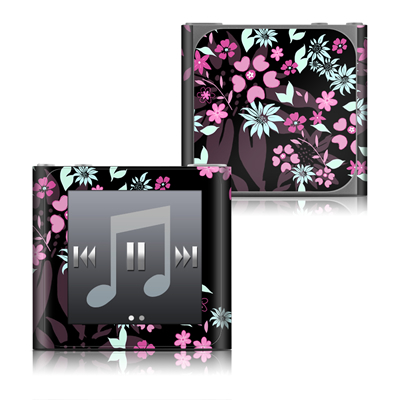 Apple iPod nano (6G) Skin - Dark Flowers