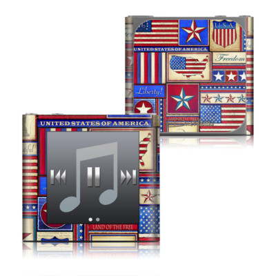 Apple iPod nano (6G) Skin - Flag Patchwork