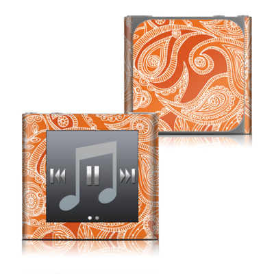 Apple iPod nano (6G) Skin - Paisley In Orange