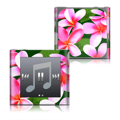 Apple iPod nano (6G) Skin - Pink Plumerias