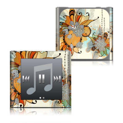 Apple iPod nano (6G) Skin - Sunset Flowers