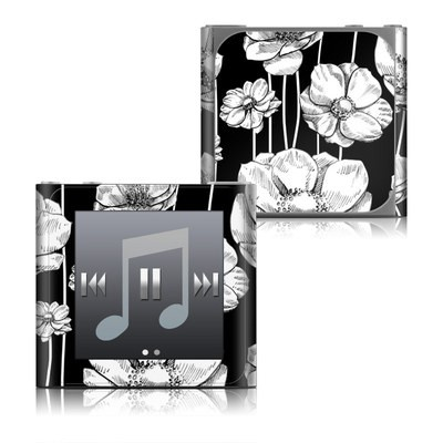 Apple iPod nano (6G) Skin - Striped Blooms