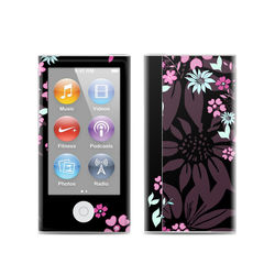 Apple iPod Nano (7G) Skin - Dark Flowers