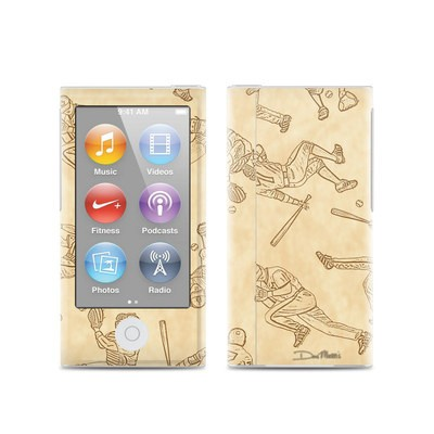 Apple iPod Nano (7G) Skin - Baseball Sketches