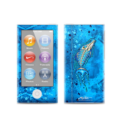 Apple iPod Nano (7G) Skin - Barracuda Bones