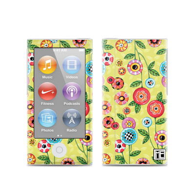 Apple iPod Nano (7G) Skin - Button Flowers