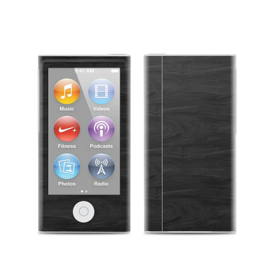 Apple iPod Nano (7G) Skin - Black Woodgrain