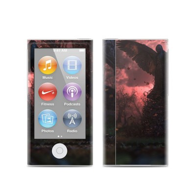 Apple iPod Nano (7G) Skin - Black Angel