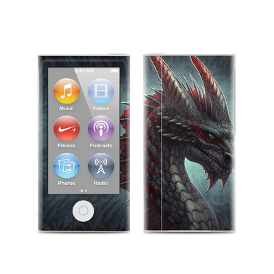 Apple iPod Nano (7G) Skin - Black Dragon