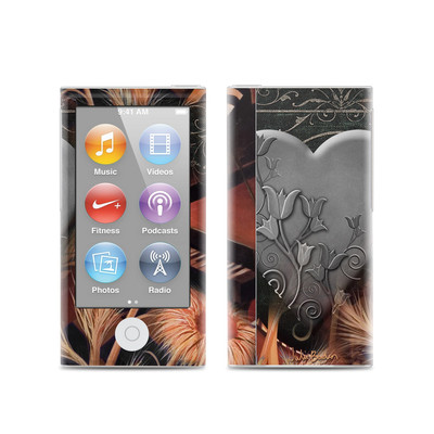 Apple iPod Nano (7G) Skin - Black Lace Flower