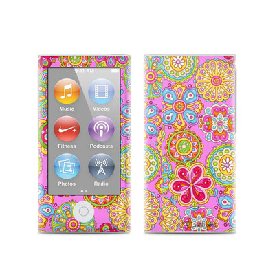 Apple iPod Nano (7G) Skin - Bright Flowers