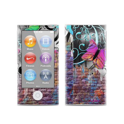 Apple iPod Nano (7G) Skin - Butterfly Wall