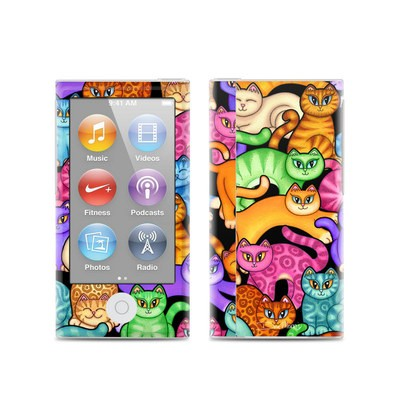 Apple iPod Nano (7G) Skin - Colorful Kittens