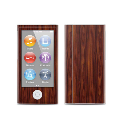 Apple iPod Nano (7G) Skin - Dark Rosewood