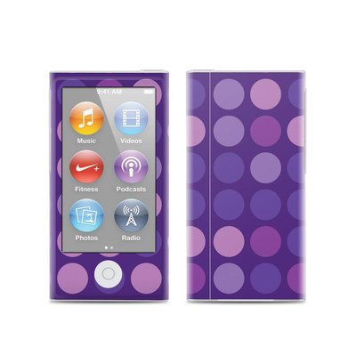 Apple iPod Nano (7G) Skin - Big Dots Purple