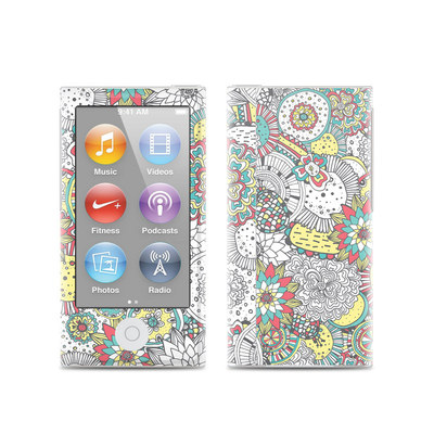 Apple iPod Nano (7G) Skin - Faded Floral