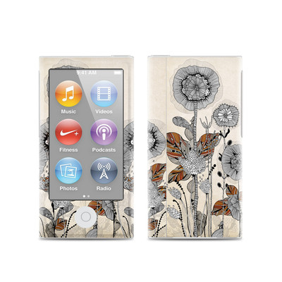 Apple iPod Nano (7G) Skin - Four Flowers