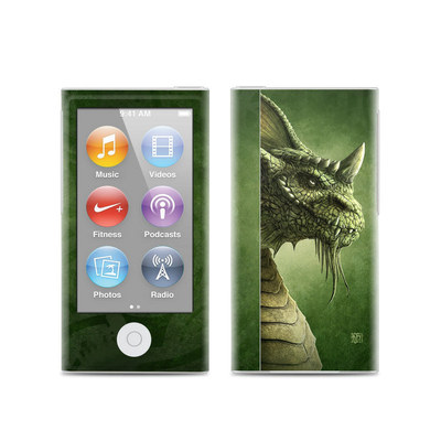 Apple iPod Nano (7G) Skin - Green Dragon