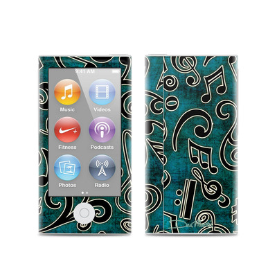 Apple iPod Nano (7G) Skin - Music Notes