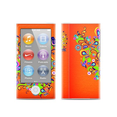Apple iPod Nano (7G) Skin - Orange Squirt