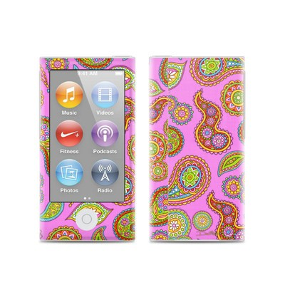 Apple iPod Nano (7G) Skin - Pink Paisley