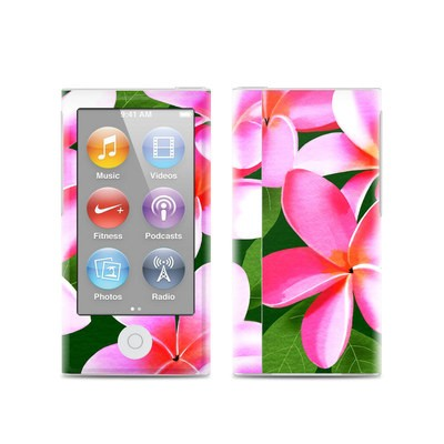 Apple iPod Nano (7G) Skin - Pink Plumerias