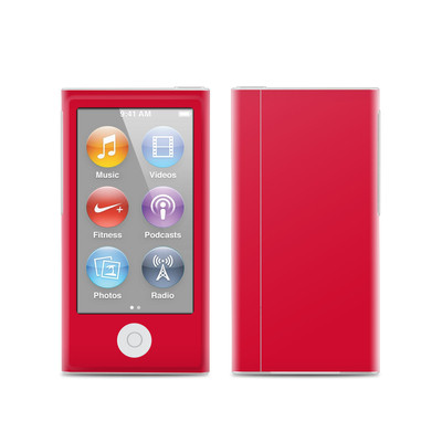 Apple iPod Nano (7G) Skin - Solid State Red