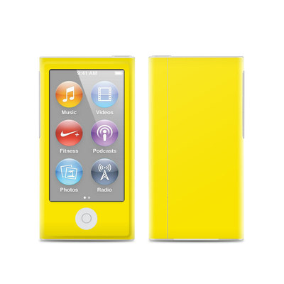 Apple iPod Nano (7G) Skin - Solid State Yellow