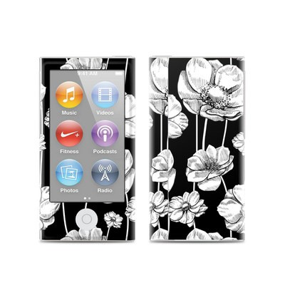 Apple iPod Nano (7G) Skin - Striped Blooms