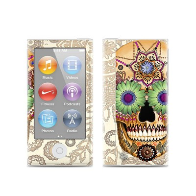 Apple iPod Nano (7G) Skin - Sugar Skull Bone