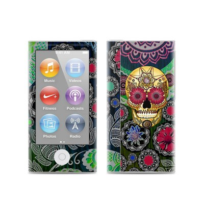 Apple iPod Nano (7G) Skin - Sugar Skull Paisley