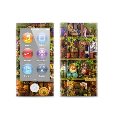 Apple iPod Nano (7G) Skin - Wine Shelf