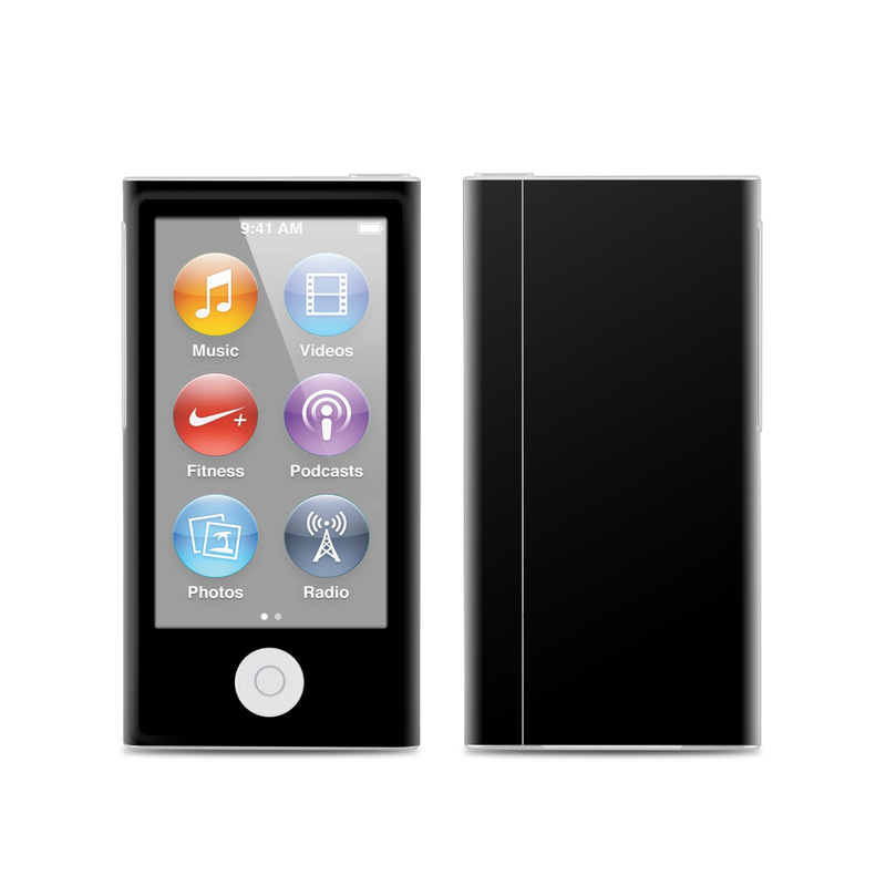 apple ipod nano 7g skin solid state black by solid