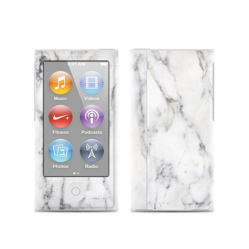 apple ipod nano 7g skin white marble by marble. Black Bedroom Furniture Sets. Home Design Ideas