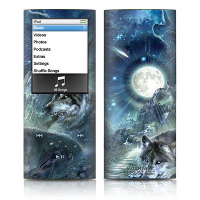 iPod nano (4G) Skin - Bark At The Moon